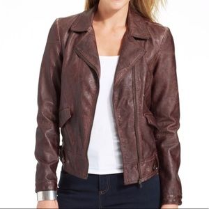 Kut from the Kloth Dean Faux Leather Moto Jacket M